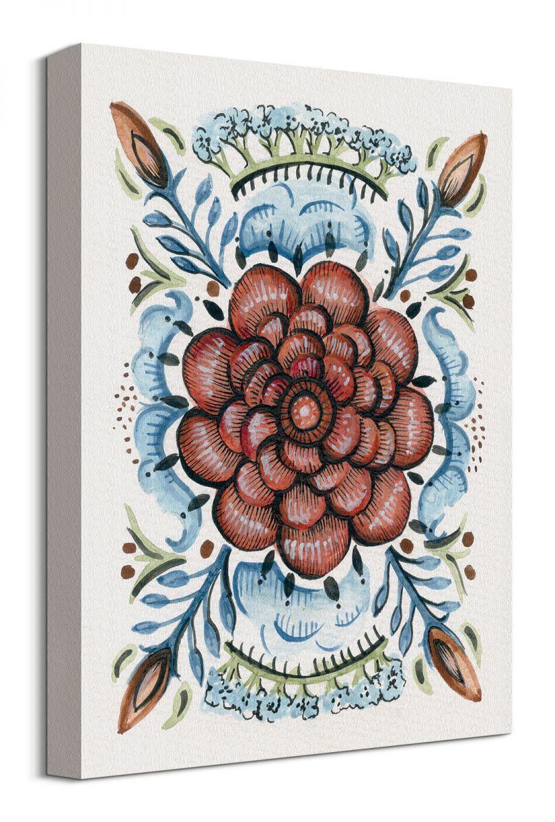13ad3be8 Folk Floral IV - obraz na płótnie