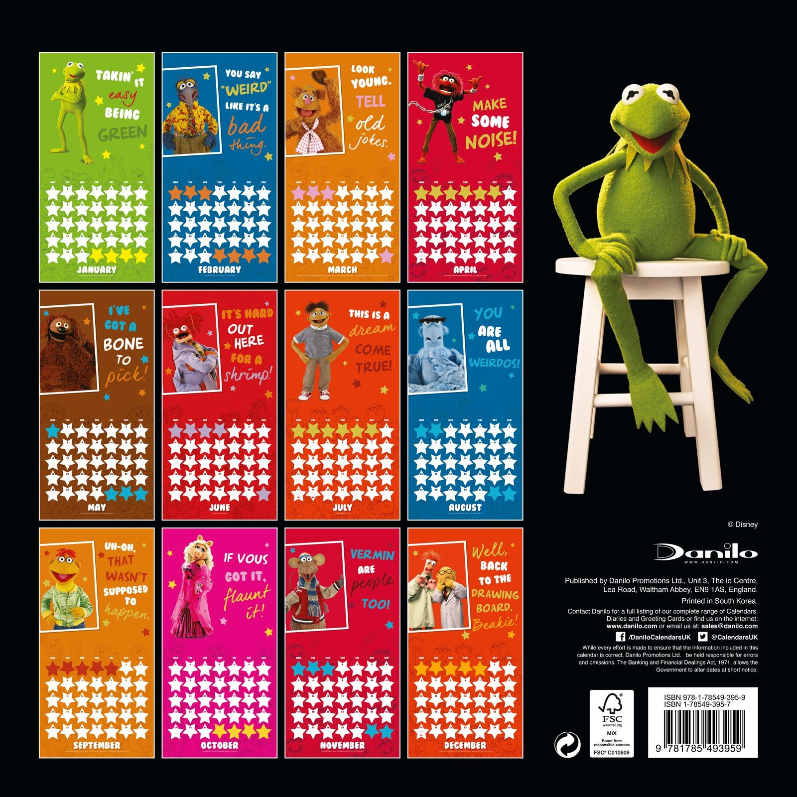 muppets 2018 calendar