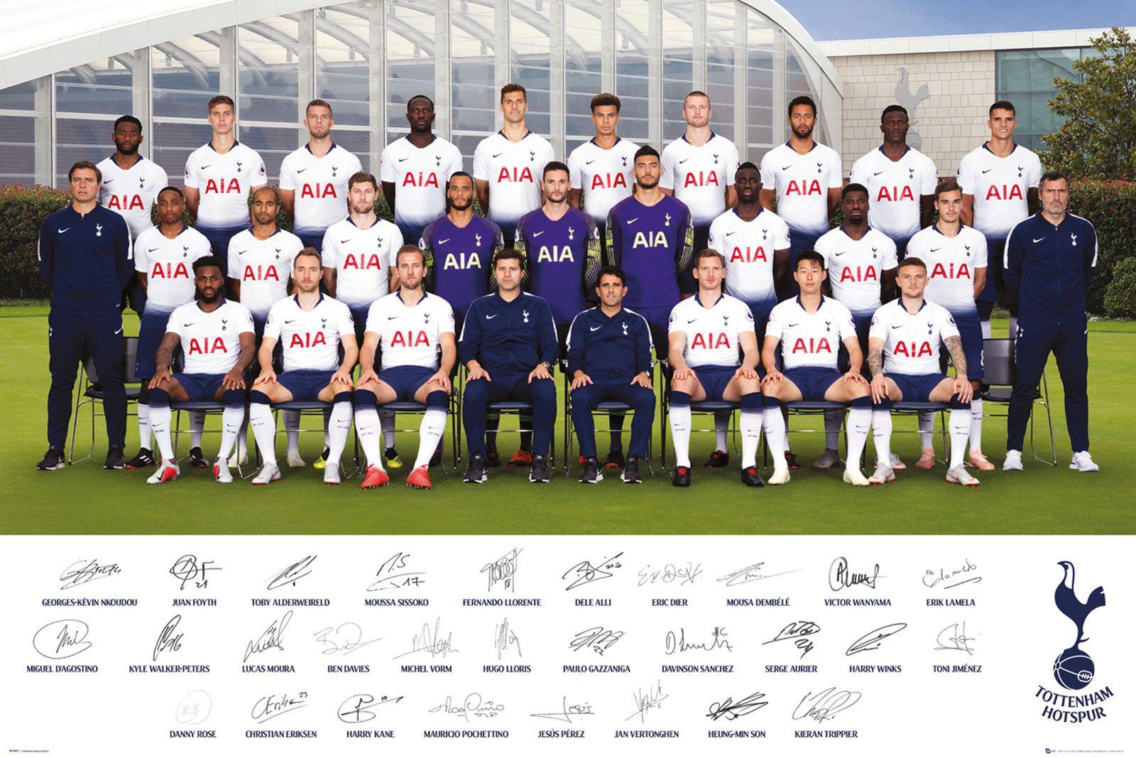 Tottenham Hotspur Zawodnicy 1819 Plakat